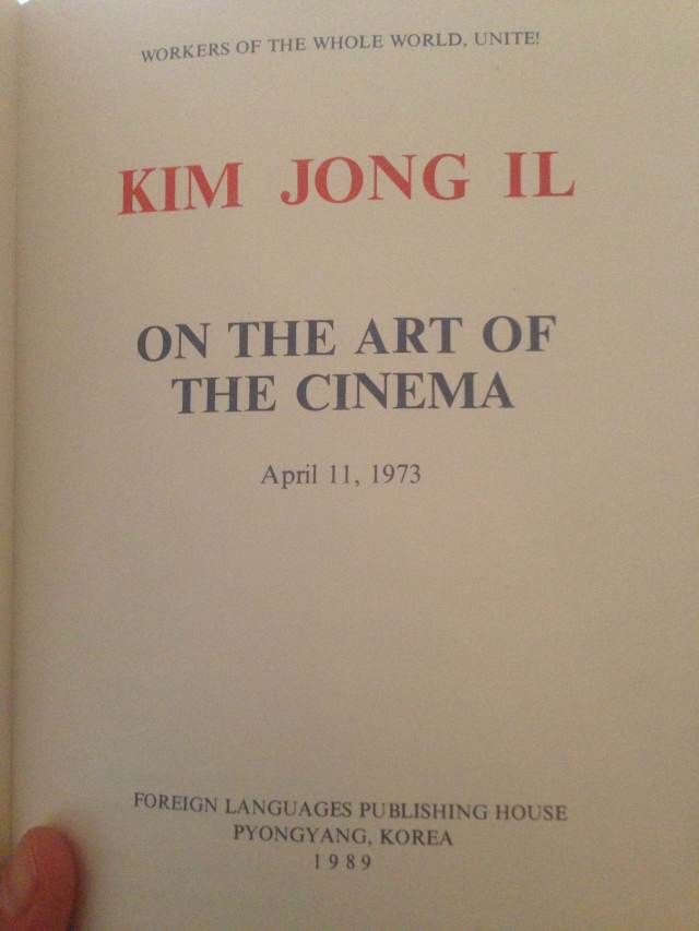 Kim Jong Il Art of Cinema